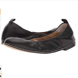 Botkier Mason Black Leather Ballet Flats